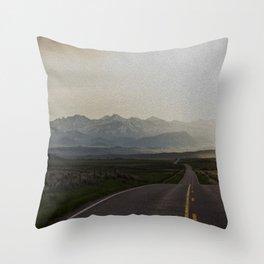 Crazy Mountains Sunrise Throw Pillow