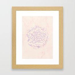 Never Will I Leave You - Hebrews 13:5 Framed Art Print