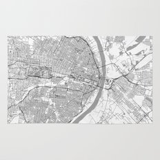 St Louis Map Line Rug