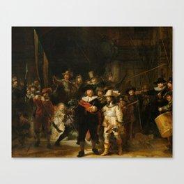 Rembrandt van Rijn - Nightwatch - Nachtwacht (1642) Canvas Print