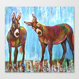 Donkeys Canvas Print