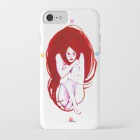 musa iPhone & iPod Cases featuring MUSA RED by Xavi Guerra