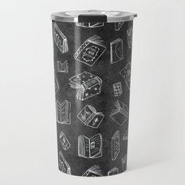 Classic Books - Pattern (Black) Travel Mug
