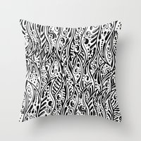 fringe Throw Pillows featuring Pysch Fringe by jordantheplatt