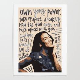 Alexandria Ocasio-Cortez. Poster