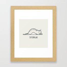 Cat-erpillar Framed Art Print