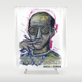 Hunter S. Thompson Shower Curtain