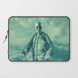 Lord Bonehead VINTAGE GREEN / Skeleton portrait Laptop Sleeve