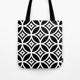 CIRCLE DIAMOND, BLACK AND WHITE Tote Bag