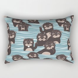 Otters dazzling the audience Rectangular Pillow