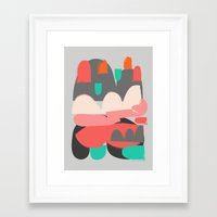 n7 Framed Art Prints featuring Abstract n7 by HaloCalo