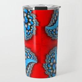 Fractal Quadrant Red I Travel Mug
