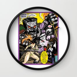 Cover page of Tex Watt's  (UNCENSORED) SUNDAY COMIX POP-ART! Wall Clock
