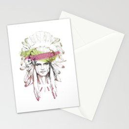 Indian man (summer version) Stationery Cards