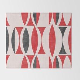 Seventies in Cherry Red Throw Blanket