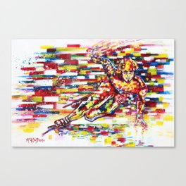 Apolo Anton Ohno - Flow Canvas Print