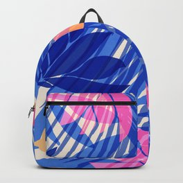 Breezy Tropics / Bright Abstract Floral Print Backpack