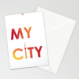 MyCity-Toronto-RedYellowB Stationery Cards