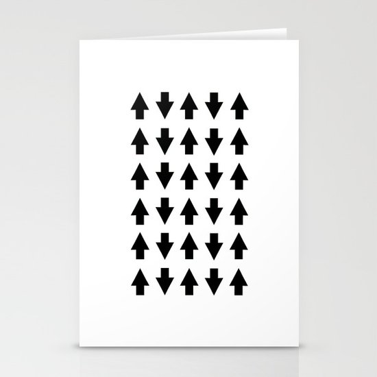 Arrows Black Stationery Cards