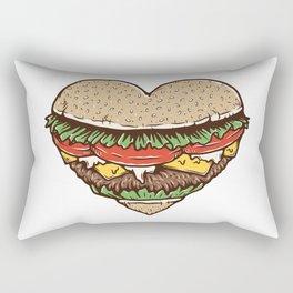 Hamburger Lover Rectangular Pillow