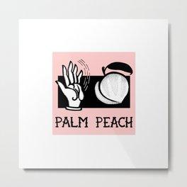 Palm Peach Metal Print