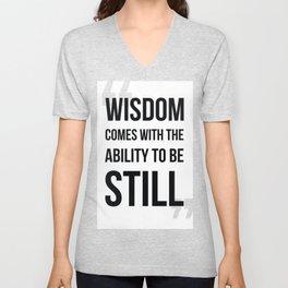 WISDOM Unisex V-Neck