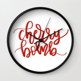 Ch-Ch-Ch-Cherry Bomb Wall Clock