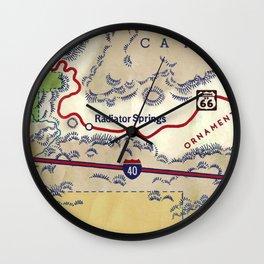 map radiator springs Wall Clock