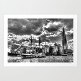 Stavros N Niarchos Ship  London Art Print