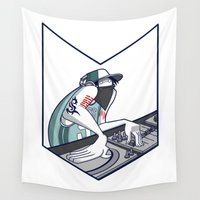 hiphop Wall Tapestries featuring Iñaki Hate DJ by Salva Laserna
