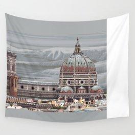 Cathedral Santa Maria del Fiore, pixel art Wall Tapestry
