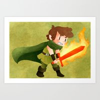dungeons and dragons Art Prints featuring Dungeons, Dungeons, and More Dungeons by Sir-Snellby