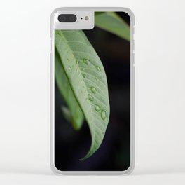 Dewey Leaf Clear iPhone Case