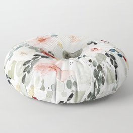 Loose Watercolor Bouquet Floor Pillow
