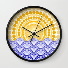LIGHT OF DAWN (abstract seascape tropical) Wall Clock