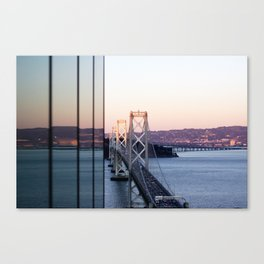 Reflections of the Bay Bridge Canvas Print
