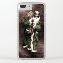 Blitz Christmas Clear iPhone Case