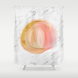 Sunny rose gold marble Shower Curtain