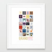 budapest hotel Framed Art Prints featuring The Grand Budapest Hotel by Giulia Brolese
