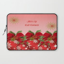 Merry Christmas - Red Laptop Sleeve
