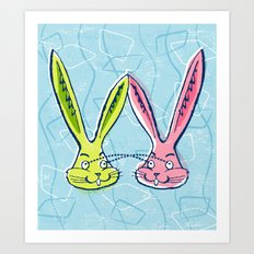 Atomic Rabbits Art Print