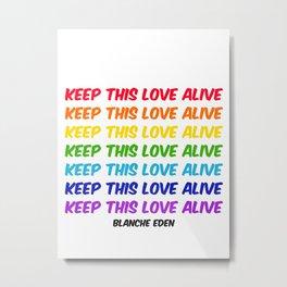 KTLA, Typography Wall Art, Rainbow Colors, Love, LGBTQ+, Art Prints Metal Print
