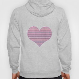 Pastel Pink Knitted Sweater Look Hoody