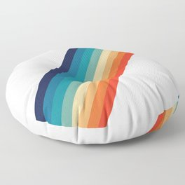 Retro 70s Stripe Colorful Rainbow Floor Pillow