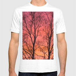 Tree Silhouttes Against The Sunset Sky #decor #society6 #homedecor T-shirt