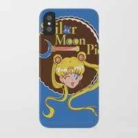 pie iPhone & iPod Cases featuring Moon Pie by Ashley Hay