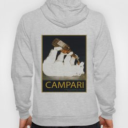 Vintage 1928 Campari Polar Bear Alcoholic Bitters Advertisement by Franz Laskoff Hoody