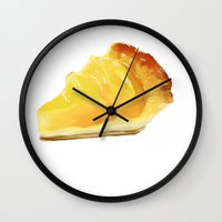 pie Wall Clocks featuring pie by Winnie draws