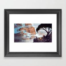 Mist-Covered Mountain Framed Art Print