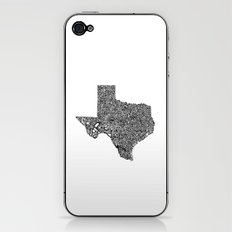 Typographic Texas iPhone & iPod Skin